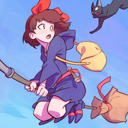 Kiki in Little Witch Academia by Kuvshinov-Ilya