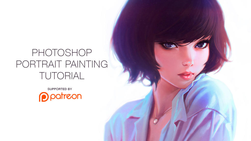 Photoshop portrait painting tutorial by kuvshinov ilya on for Portrait painting tutorial