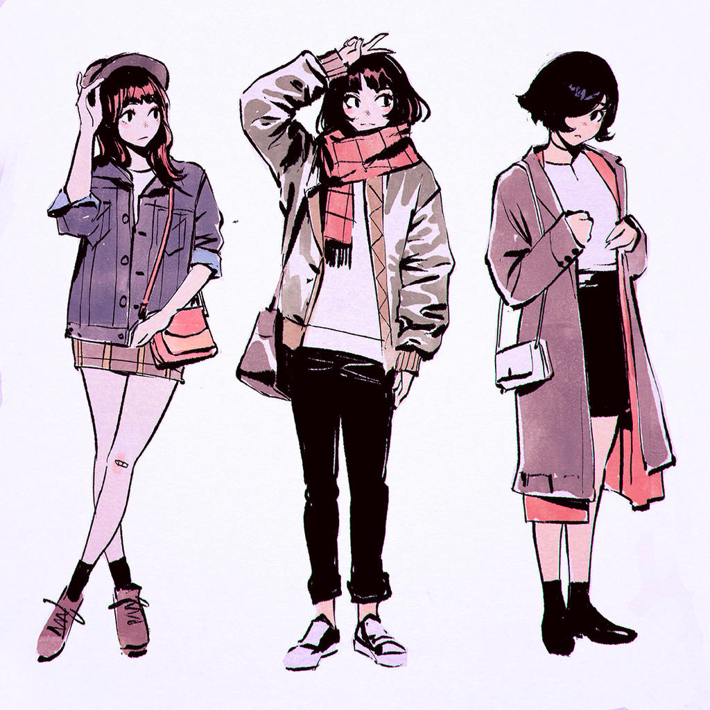 Autumn-Winter Outfits by Kuvshinov-Ilya on DeviantArt