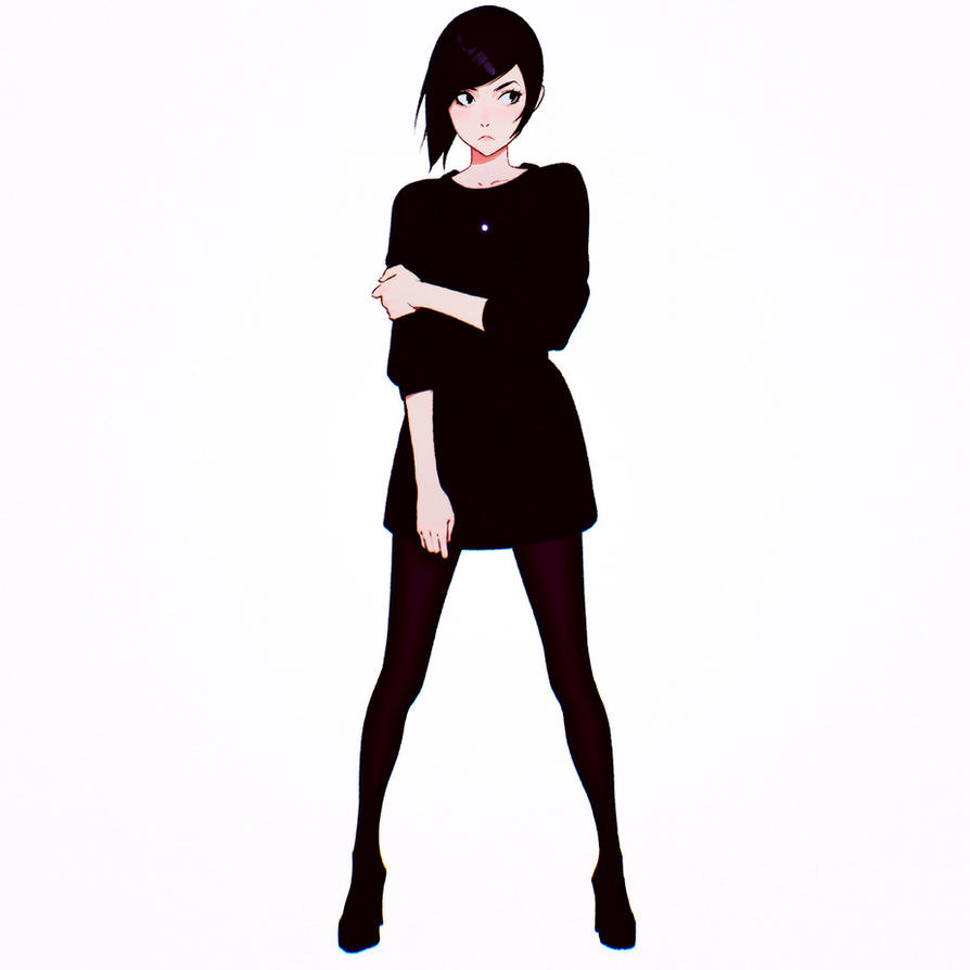 Black Dress by Kuvshinov-Ilya