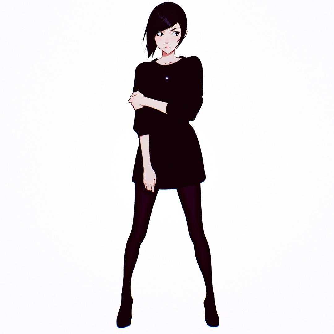 Black Dress by Kuvshinov-Ilya
