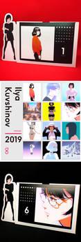 2019 Calendar by Kuvshinov-Ilya