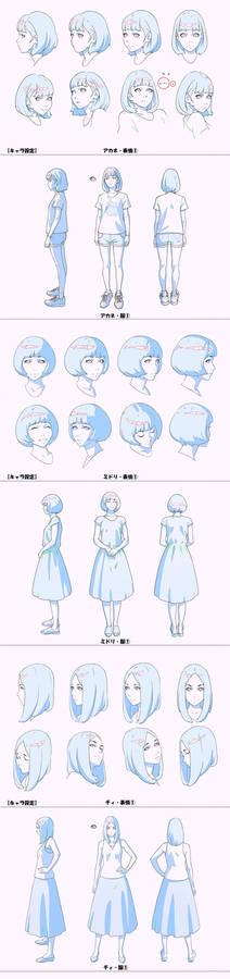 Birthday Wonderland Character Designs