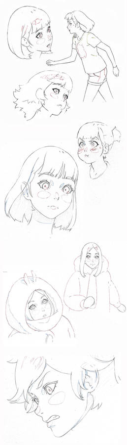 animation supervising sketches
