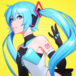 Hatsune Miku Commissioned Illustration for Cytus by Kuvshinov-Ilya