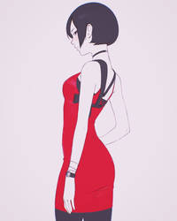 Ada Wong RE2 Fan Art by Kuvshinov-Ilya