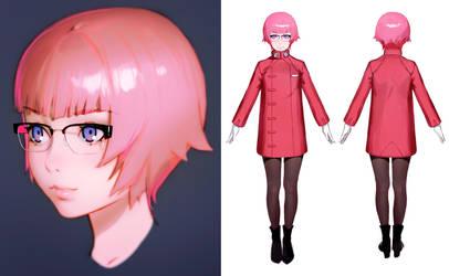 GitS Esaki Prin character design