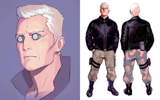 GitS Batou character design