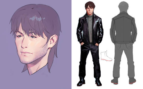 GitS Togusa character design