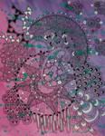 Watercolour Zentangle Abstract #9
