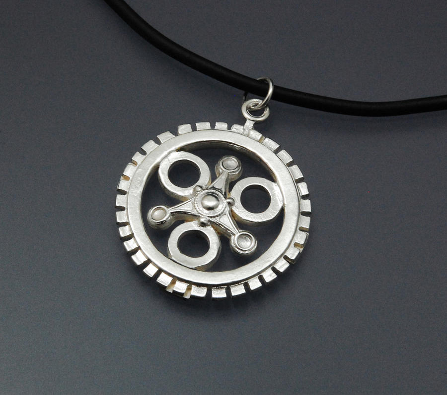 clockwork silver pendant fashion gold in jewelry men necklaces item from clock for gear lychee chain necklace women watch round
