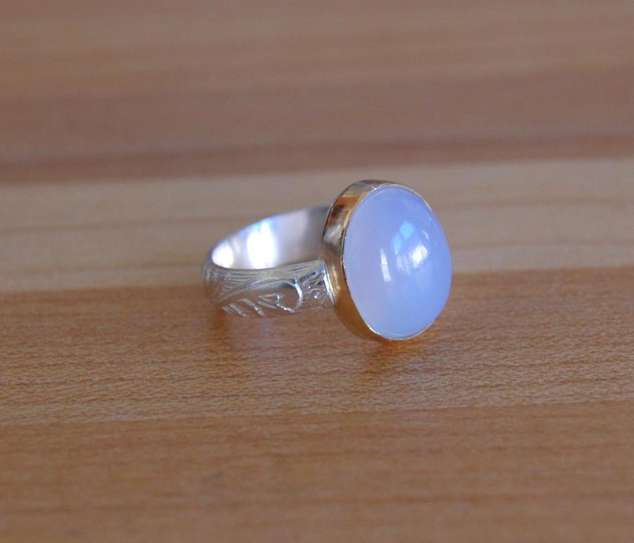 Pandora Blue Chalcedony Ring