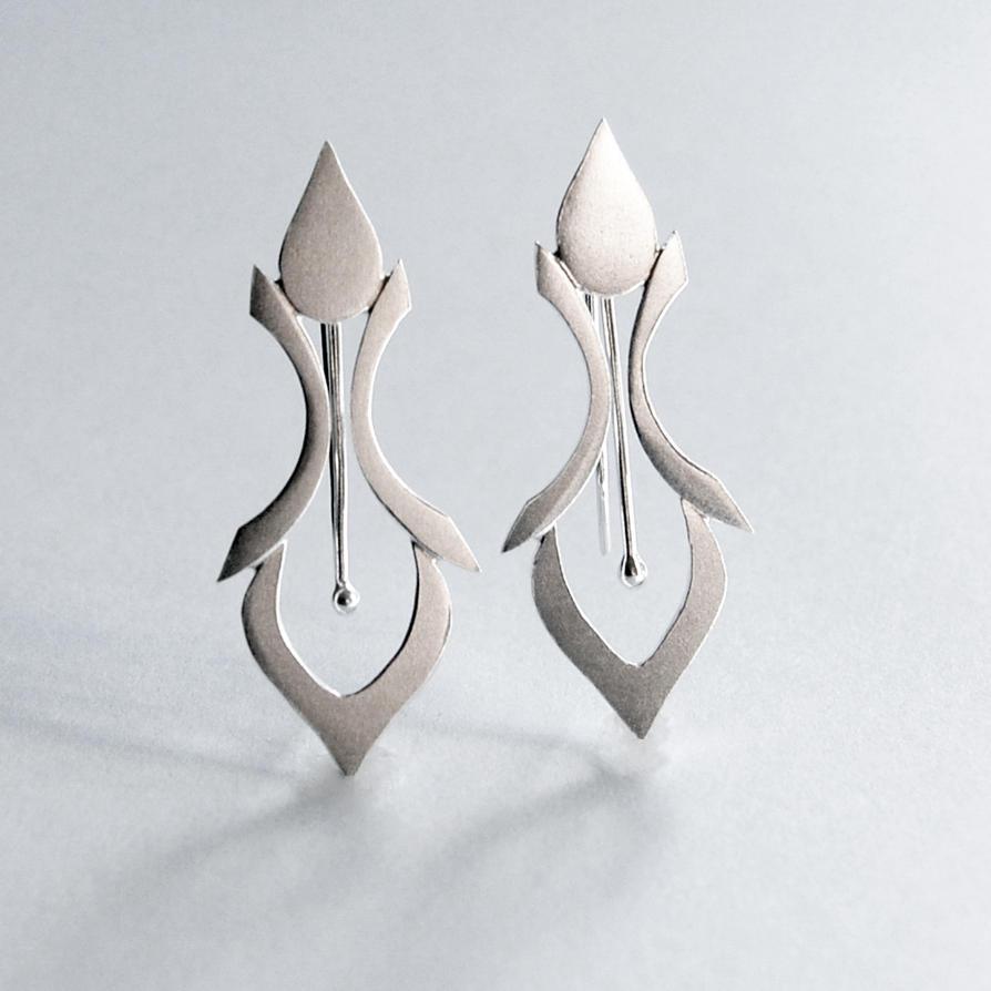 art nouveau silver earrings fleur de lys by wearablebydesign on deviantart. Black Bedroom Furniture Sets. Home Design Ideas