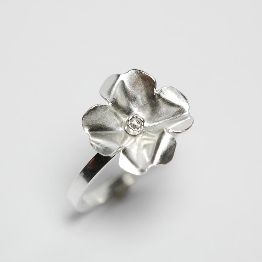 Silver Thumb Ring Argentium