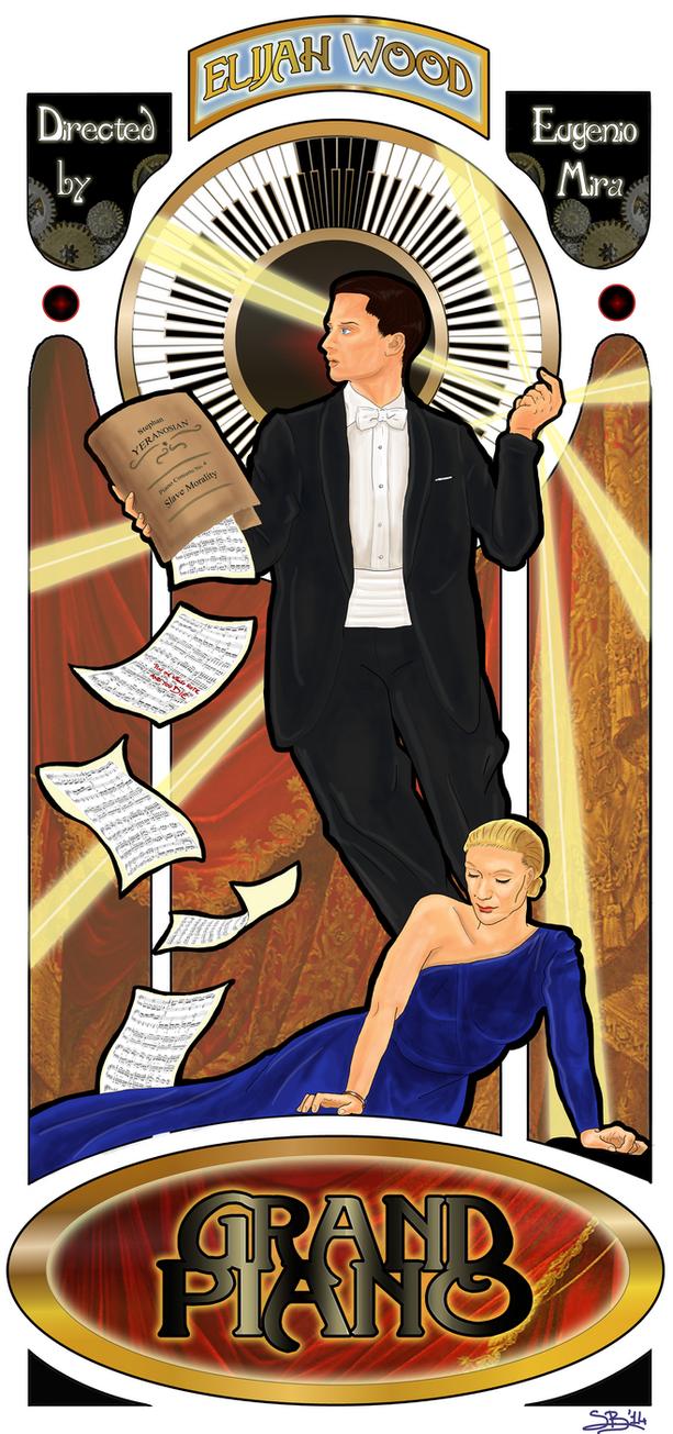 Grand Piano - Art Nouveau poster by Choryunami