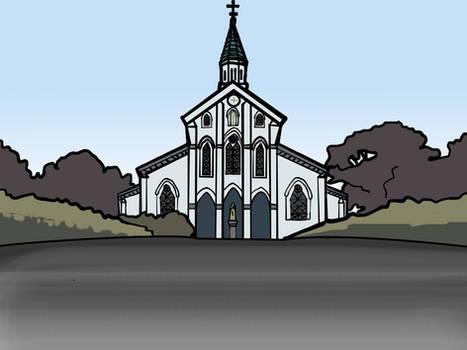 Walfas Custom Background: Kotomine Church by Midian-P