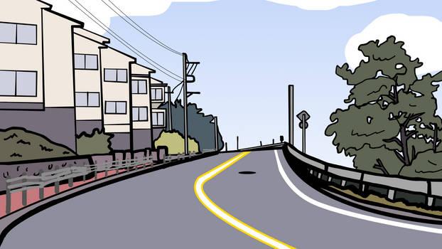 Walfas Custom Background: Miyama Town Road by Midian-P