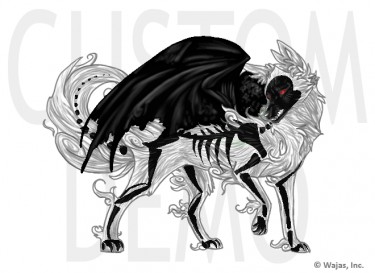 Skeleton Wolf by Sariebear20