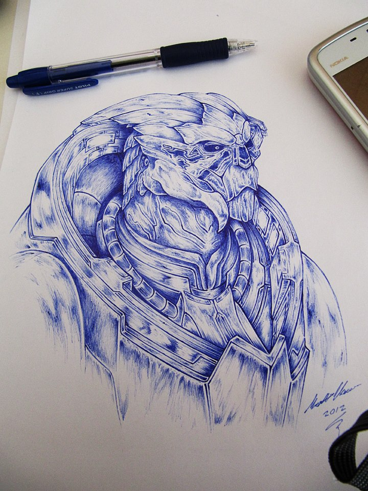 Garrus Vakarian sketch by MVestala