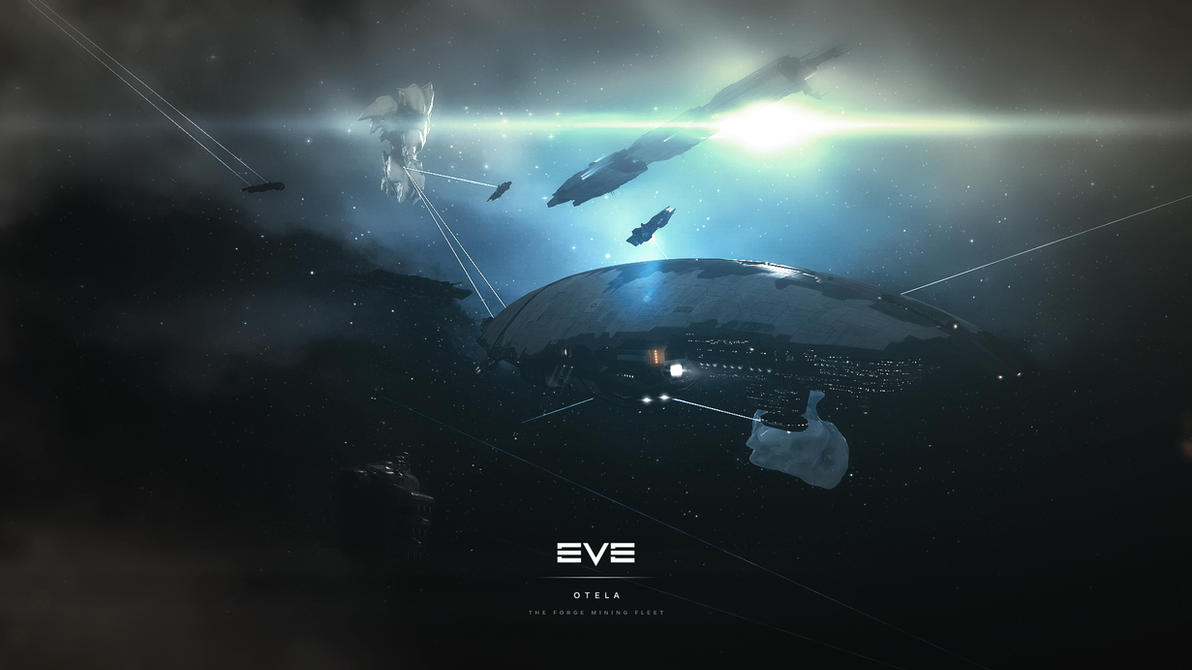 EVE Online - The Forge Open Mining Fleet Wallpaper by MVestala