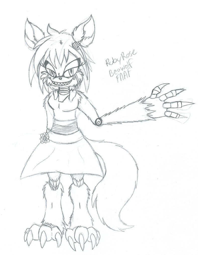 FNAF Ruby Beowolf Animatronic by sonicwerehoglover124