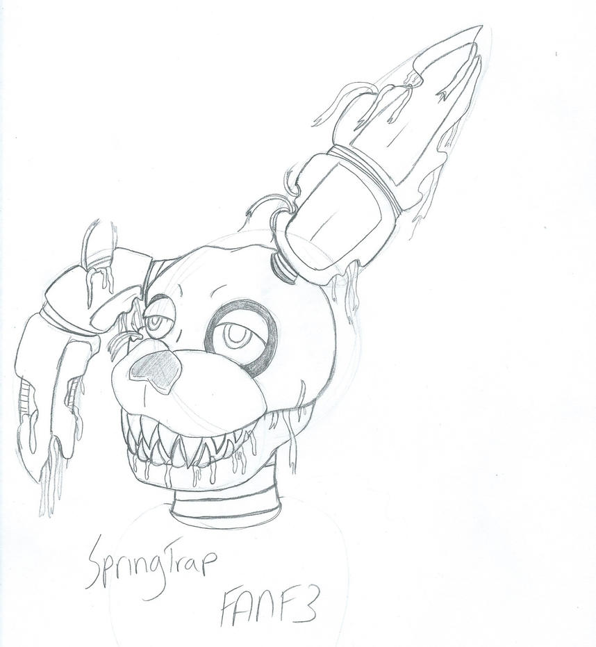 Spring Trap Fnaf - Free Colouring Pages