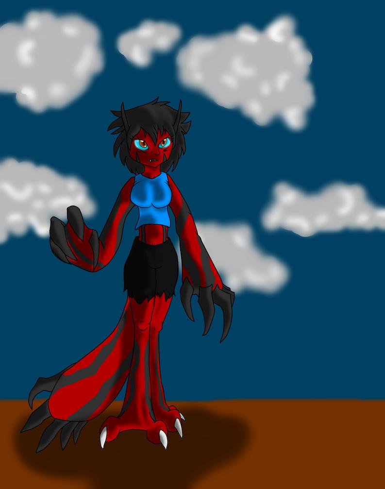 Yveltal Fem! Ash by sonicwerehoglover124