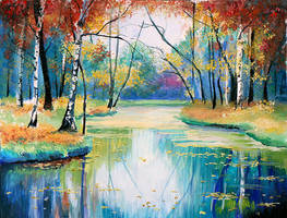 Autumn lake by Emmatyan