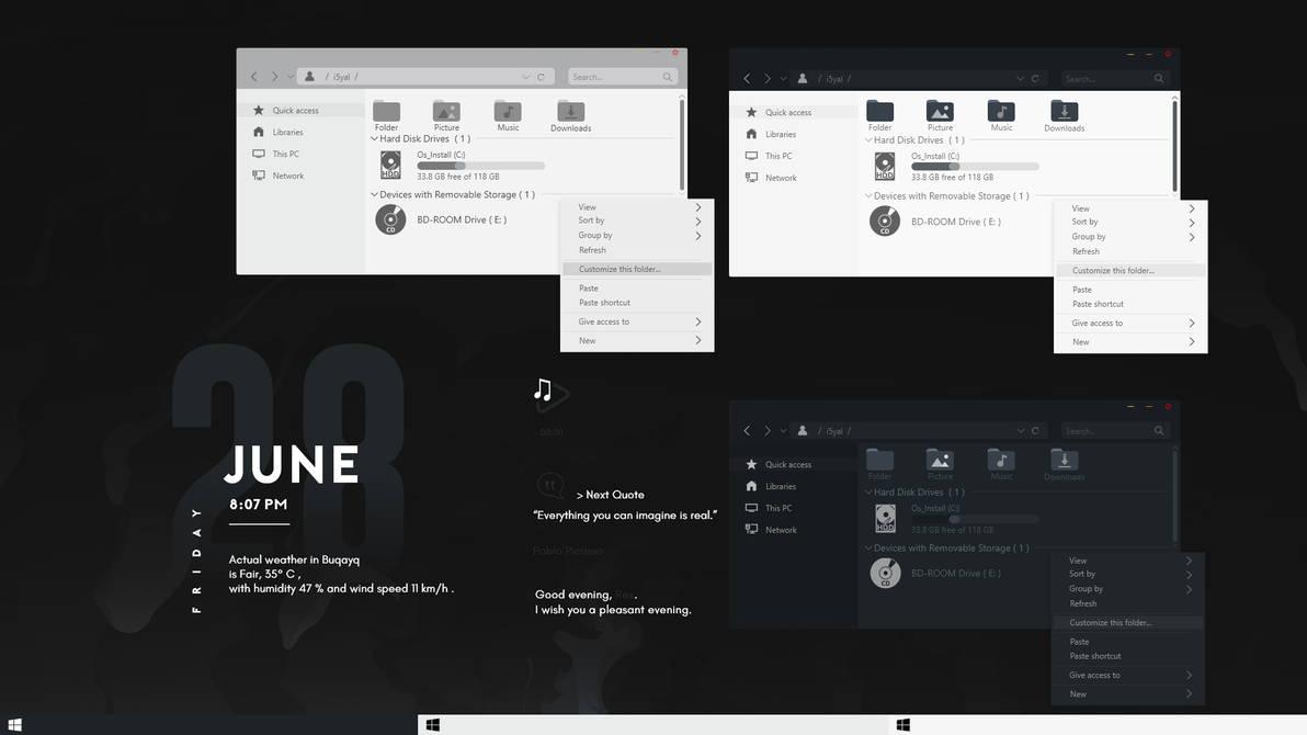 J28 Windows 10 Theme Concept by i5yal