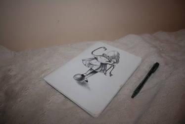 Alice's Adventures Illustration: Alice + Flamingo by Unorijenal