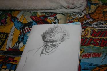 Arkham City Joker Sketch by Unorijenal