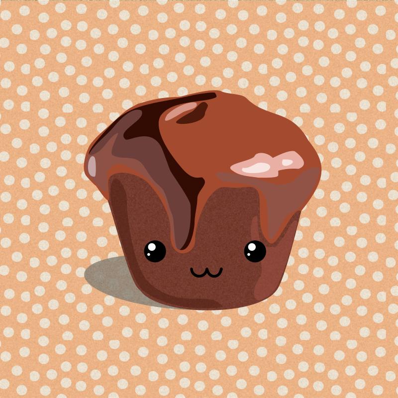 Chocolate Cupcake Wallpaper