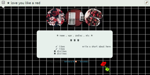 love u like a red   FTU Page Code