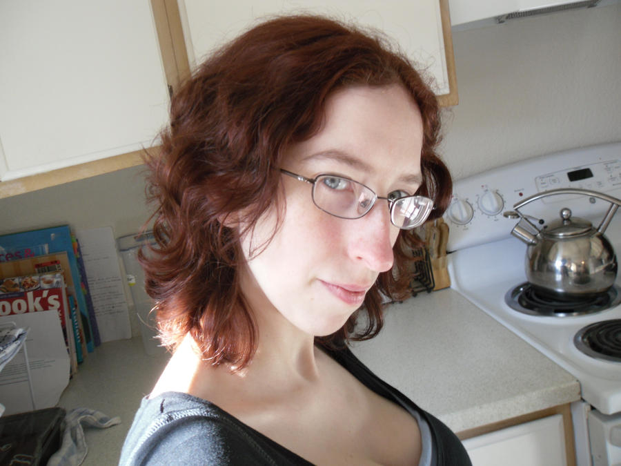 My new short, red hair by Nerdy-Sub-Athena