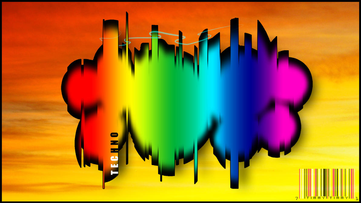 techno rainbow background - photo #22