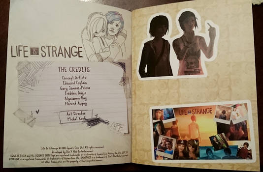 Life Is Strange Artbook /Hella journal