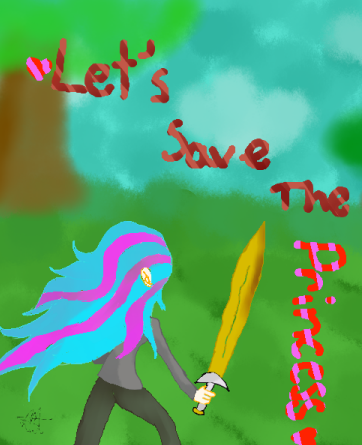 Lets Save The Princess {new book cover} by KitKatKatness