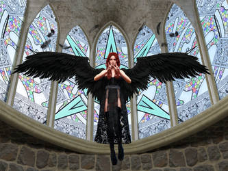 Dark Angel of the Cathedral by Amarie-Tinuviel