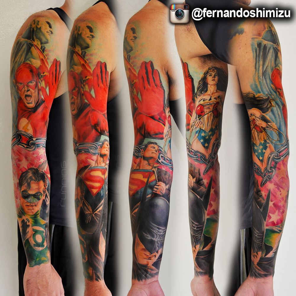 Dc comics tattoo art by fernandoshimizu on deviantart for Sebastian tattoo artist dc