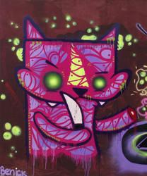 Cat, the Assassin by sprayStreetArt