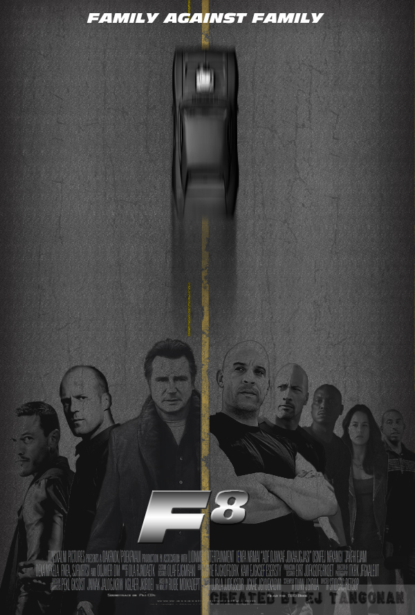F8 (Fast and Furious 8) Fan poster by EJTangonan