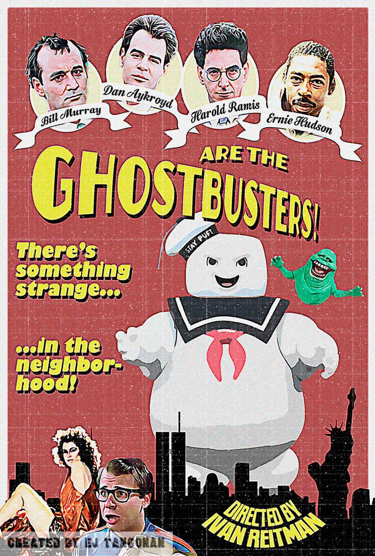 Ghostbusters Vintage poster by EJTangonan