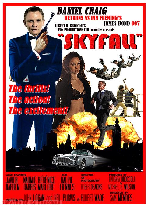 Skyfall Retro Poster by EJTangonan