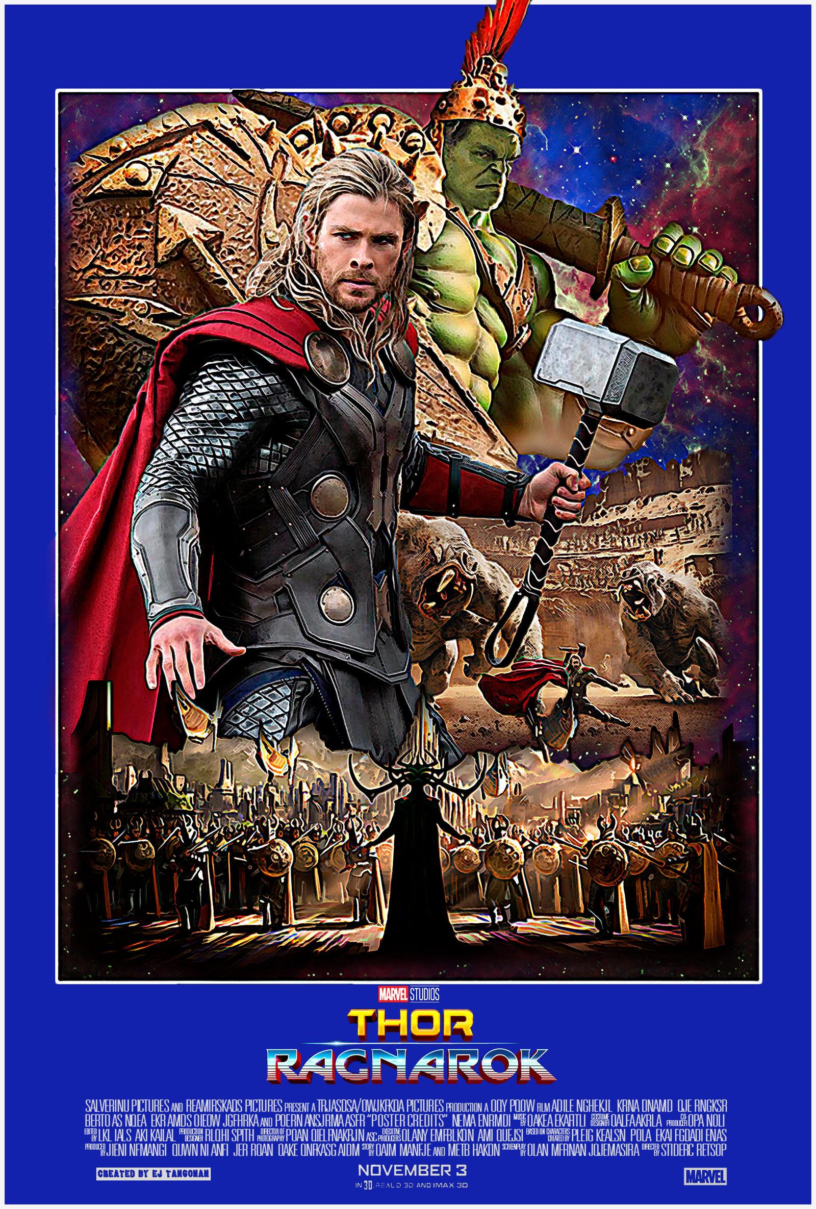 Thor Ragnarok 80s poster by EJTangonan