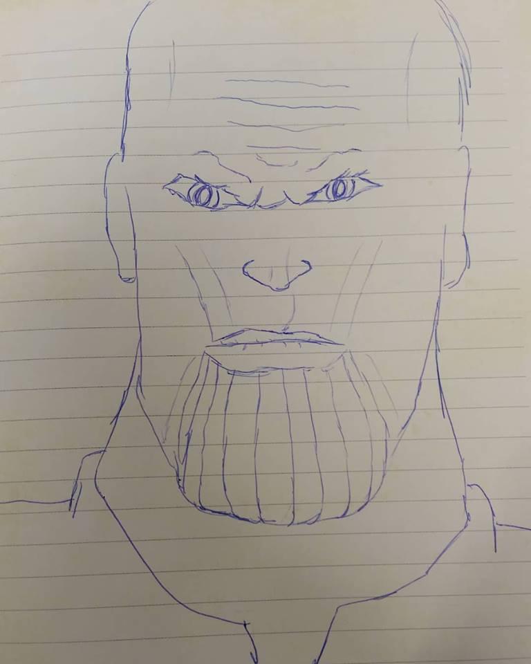 Thanos doodle by EJTangonan
