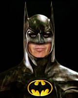 Michael Keaton as Batman in Flashpoint