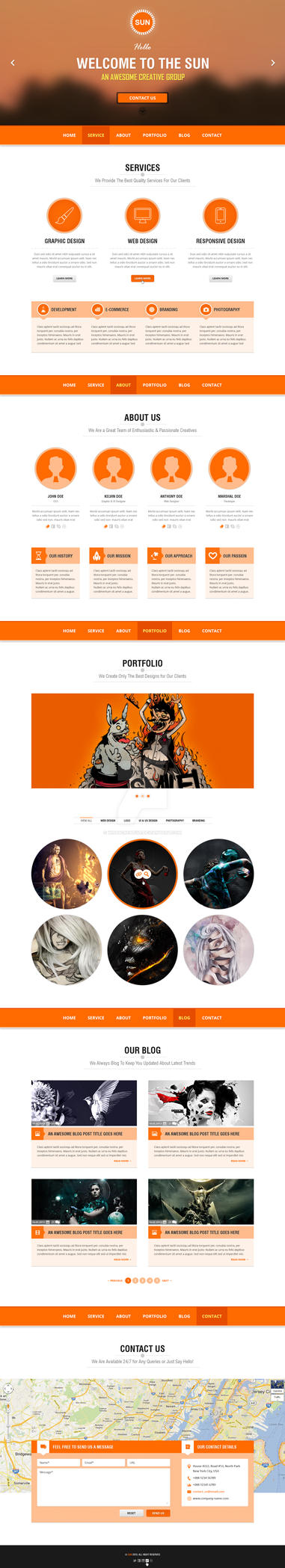 SUN - OnePAGE Paralex by wnabcreative