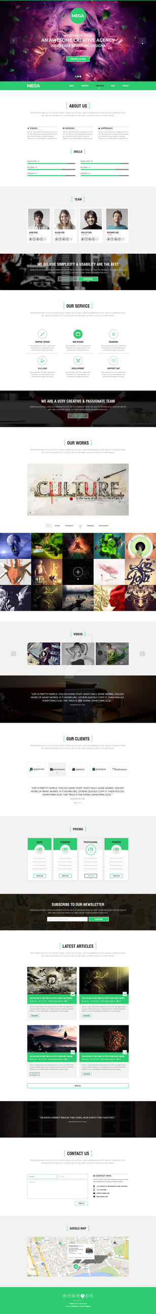 MEGA -Responsive onepage Parallax Template by wnabcreative