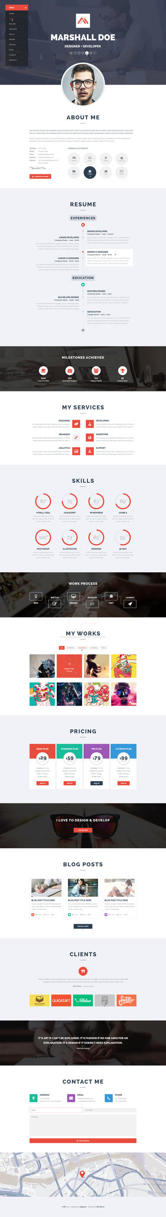 MD - Resume PSD Template by wnabcreative