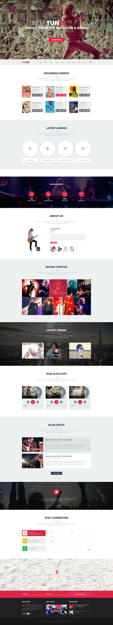 TUNEX: Music and Entertainment PSD Template by wnabcreative
